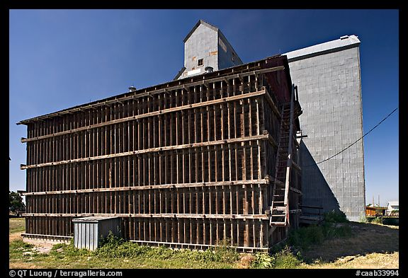 Grain elevator building. Alberta, Canada (color)