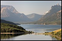 Upper Waterton Lake. Waterton Lakes National Park, Alberta, Canada (color)