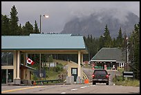 Border Crossing. Waterton Lakes National Park, Alberta, Canada (color)