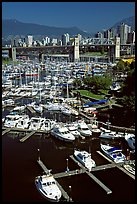 Small boat harbor on False Creek. Vancouver, British Columbia, Canada