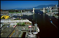 Granville Island and False Creek. Vancouver, British Columbia, Canada