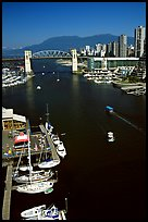 False Creek and Burrard Bridge. Vancouver, British Columbia, Canada