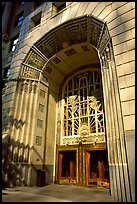 Art Deco entrance, 255 Burrard Street. Vancouver, British Columbia, Canada (color)