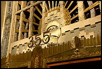 Art Deco entrance of the Marine building. Vancouver, British Columbia, Canada ( color)