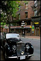 Classic car in Water Street. Vancouver, British Columbia, Canada ( color)