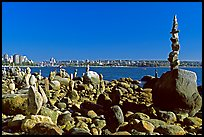Balanced rocks, Stanley Park. Vancouver, British Columbia, Canada ( color)