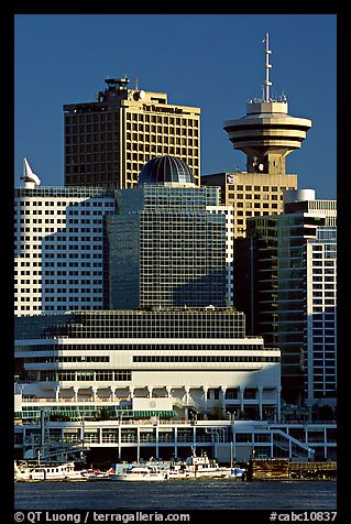 Harbor center, late afternoon. Vancouver, British Columbia, Canada (color)