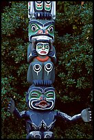 Totem section, Stanley Park. Vancouver, British Columbia, Canada (color)