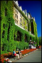 Ivy-covered facade of Empress hotel. Victoria, British Columbia, Canada