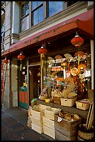 Storefront in Chinatown. Victoria, British Columbia, Canada (color)