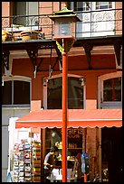 Lamp post and store in Chinatown. Victoria, British Columbia, Canada (color)