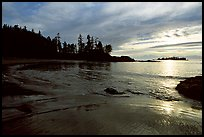 Half-moon bay, late afternoon. Pacific Rim National Park, Vancouver Island, British Columbia, Canada (color)