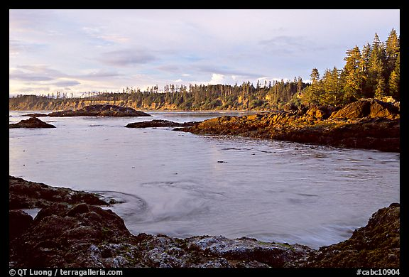 Half-moon bay, late afternoon. Pacific Rim National Park, Vancouver Island, British Columbia, Canada