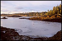 Half-moon bay, late afternoon. Pacific Rim National Park, Vancouver Island, British Columbia, Canada ( color)