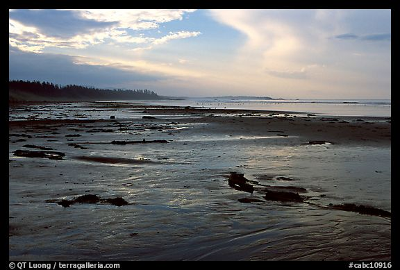 Long Beach, early morning. Pacific Rim National Park, Vancouver Island, British Columbia, Canada (color)