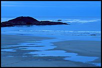 Dusk, Long Beach. Pacific Rim National Park, Vancouver Island, British Columbia, Canada (color)
