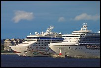 Cruise ships. Victoria, British Columbia, Canada (color)
