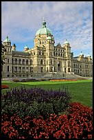 Parliament building, morning. Victoria, British Columbia, Canada