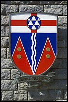 Shield of Yukon Territory. Victoria, British Columbia, Canada (color)