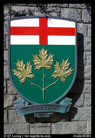 Shield of Ontario Province. Victoria, British Columbia, Canada (color)