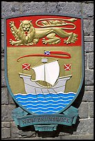 Shield of New Brunswick Province. Victoria, British Columbia, Canada