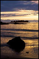Sunset, Half Moon Bay. Pacific Rim National Park, Vancouver Island, British Columbia, Canada