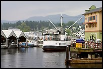 Harbor Quay with the Lady Rose ferry, Port Alberni. Vancouver Island, British Columbia, Canada ( color)