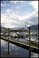Harbour on Alberni Inlet, Port Alberni. Vancouver Island, British Columbia, Canada