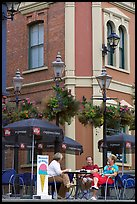 Outdoor terrace, Bastion square. Victoria, British Columbia, Canada (color)