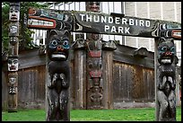 Thunderbird Park. Victoria, British Columbia, Canada (color)