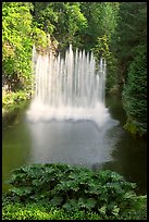 Ross Fountain. Butchart Gardens, Victoria, British Columbia, Canada (color)