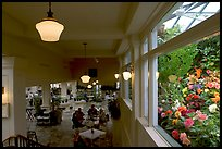 Blue Poppy Restaurant and Show Greenhouse. Butchart Gardens, Victoria, British Columbia, Canada (color)
