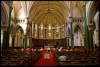 Interior of church. Victoria, British Columbia, Canada (color)
