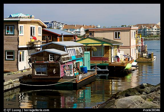 Houseboats near Fisherman's wharf. Victoria, British Columbia, Canada (color)