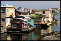 Houseboats near Fisherman's wharf. Victoria, British Columbia, Canada
