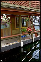 Houseboat porch. Victoria, British Columbia, Canada (color)