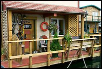 Houseboat porch. Victoria, British Columbia, Canada