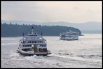 Ferries in the San Juan Islands. Vancouver Island, British Columbia, Canada ( color)