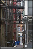 Alley in Gastown. Vancouver, British Columbia, Canada