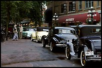 Classic cars in Gastown. Vancouver, British Columbia, Canada ( color)