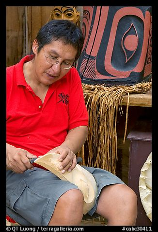 First nations carver. Vancouver, British Columbia, Canada