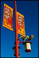 Street lamp and banner, Chinatown. Vancouver, British Columbia, Canada (color)