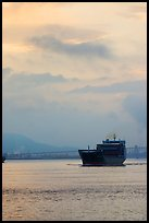 Container ship in harbor. Vancouver, British Columbia, Canada ( color)