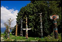 Totems, Stanley Park. Vancouver, British Columbia, Canada (color)