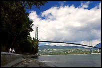 Lions Gate Bridge across Burrard Inlet. Vancouver, British Columbia, Canada ( color)