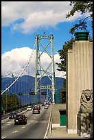 Lions Gate suspension bridge. Vancouver, British Columbia, Canada (color)