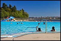 Swimming pool, Stanley Park. Vancouver, British Columbia, Canada ( color)