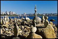 Balanced rocks and skyline, Stanley Park. Vancouver, British Columbia, Canada ( color)