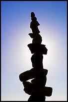Backlit balanced rocks. Vancouver, British Columbia, Canada ( color)