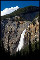 Takakkaw Falls, 254 meter high. Yoho National Park, Canadian Rockies, British Columbia, Canada (color)